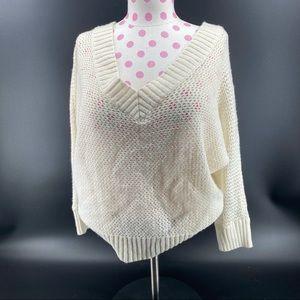 Women's Ivory Knit Sweater